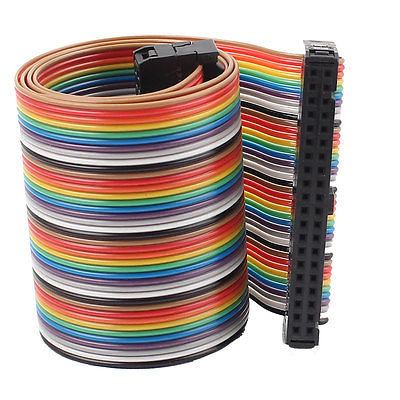 2.54mm Pitch 40 Pin 40 Way F/F Connector IDC Flat Rainbow Ribbon Cable 1.6ft the whole package of cable connector joint 75 5 f head set top box power splitters f extrusion type waterproof metric