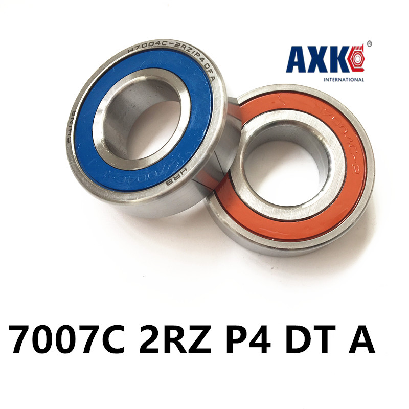 1 Pair AXK  7007 7007C 2RZ P4 DT A 35x62x14 35x62x28 Sealed Angular Contact Bearings Speed Spindle Bearings CNC ABEC-7 7007 7007c 2rz hq1 p4 dt a 35x62x14 2 sealed angular contact bearings speed spindle bearings cnc abec 7 si3n4 ceramic ball