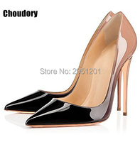 Hot Brand Shoes Woman High Heels Wedding Shoes Black Red Patent Leather Women Pumps Pointed Toe