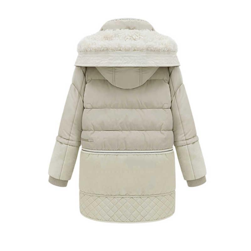 Lusumily 2020 bahar kış kadın ceket pamuk ceket yastıklı uzun İnce kapşonlu Parkas kadın dış giyim sıcak ceket yün giyim