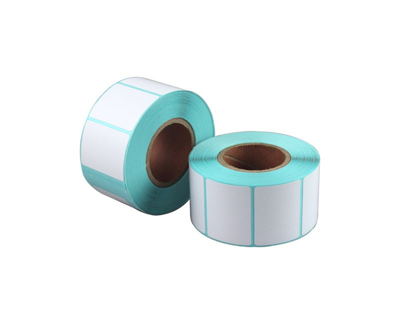 wholesale 15roll high quality 30x20mm 800 sheets Thermal sticker paper barcode QR code printing paper label printing paper matte silver self adhesive paper label printing diy crafts sticker for library book electronics blank bar code printed labels