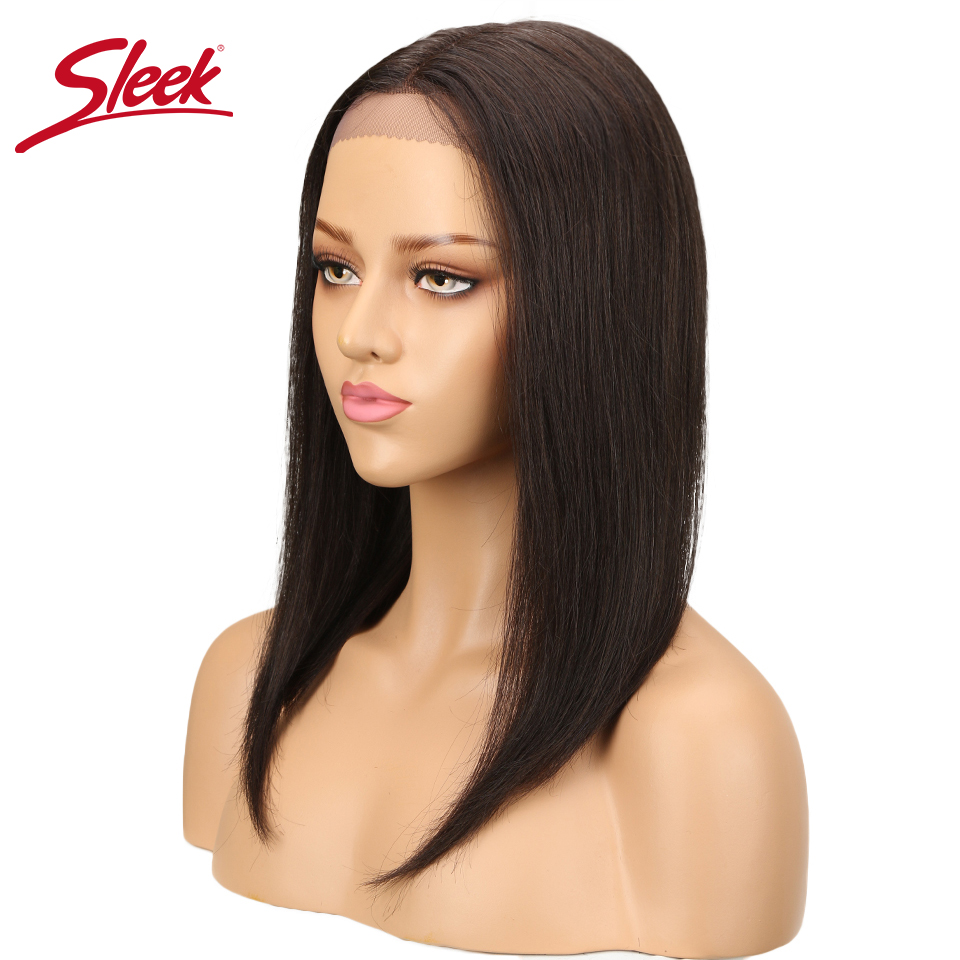 Sleek Brazilian Lace Front Human Hair Wigs For Black Women Remy Straight Human Hair Lace Front