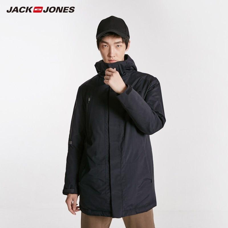 JackJones Men's Winter Medium Style Hooded Stand-up Collar   Coat   C|218412503