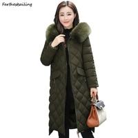2018 Women Fashion Parka Female Long Winter Coat Down Cotton Jackets Overcoat Thickened Parka Coats Ladies Winter Jacket Outwear