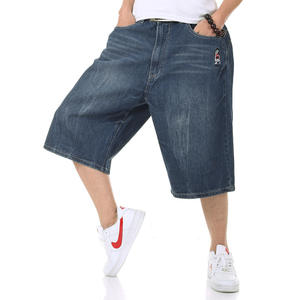 c5953373aac Overeal Male Baggy Jeans Shorts Men Denim Pants Plus Size