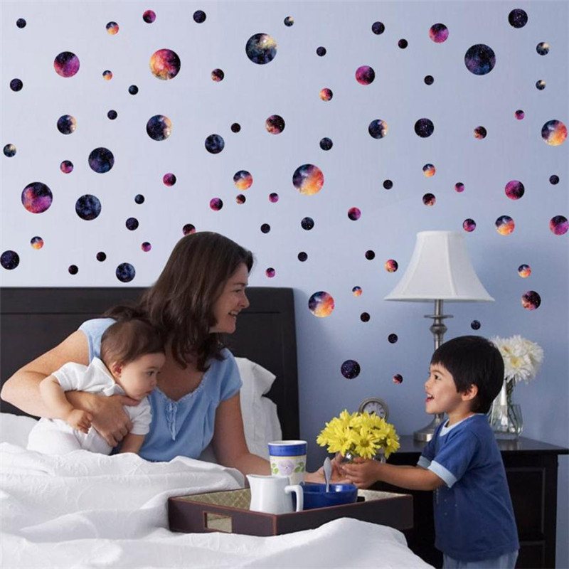 DIY wall stickers Round removable Fashion Wall Stickers Kids Baby Room Wall Art Home bed ...