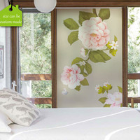 Custom Size Decorative Window Film Protect Privacy Static No Glue Digital Printing Frosted Kitchen Living Room