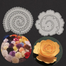2Pc/Set Metal Cutting Dies New Thread Circles Flowers Set Fustelle Metalliche Per Scrapbooking