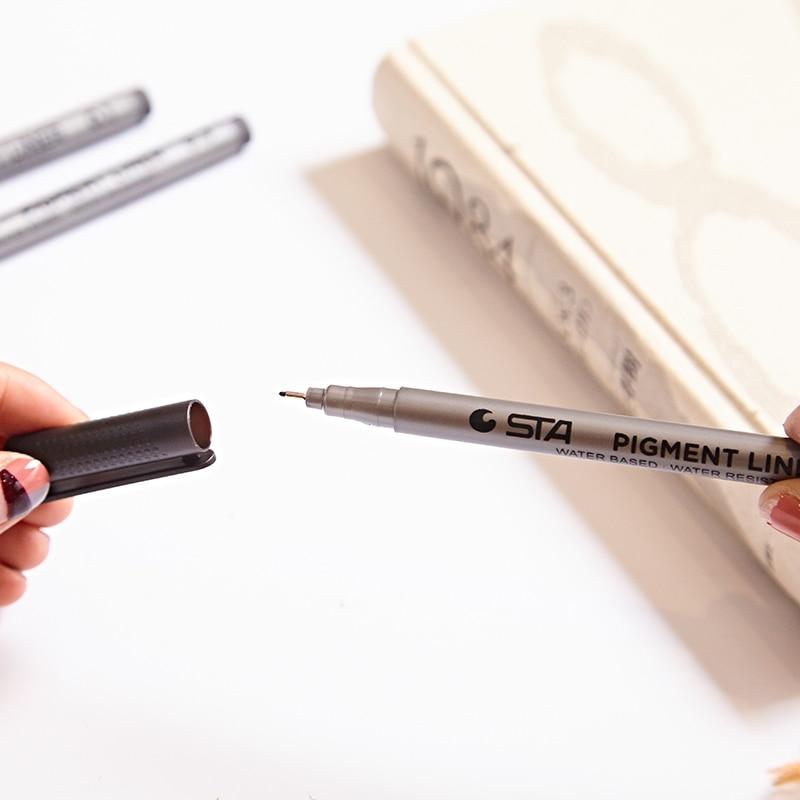 6 հատ / Lot Միկրո գծի նշման գրիչ մանգայի - Գրիչներ, մատիտներ և գրելու գործիքներ - Լուսանկար 6