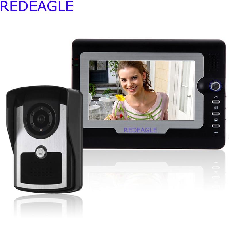 Wired Video door Phone Doorbell Intercom Kit 7 inch LCD Monitor Rainproof Home Security Camera