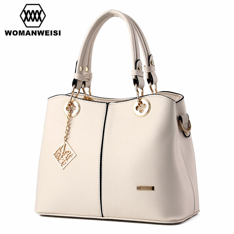 women leather handbags dames tassen luxury female designer handbag