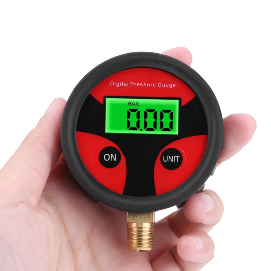 0-200PSI LCD Digital neumático del neumático manómetro de aire motocicleta Car Bike Tester sistema de monitoreo