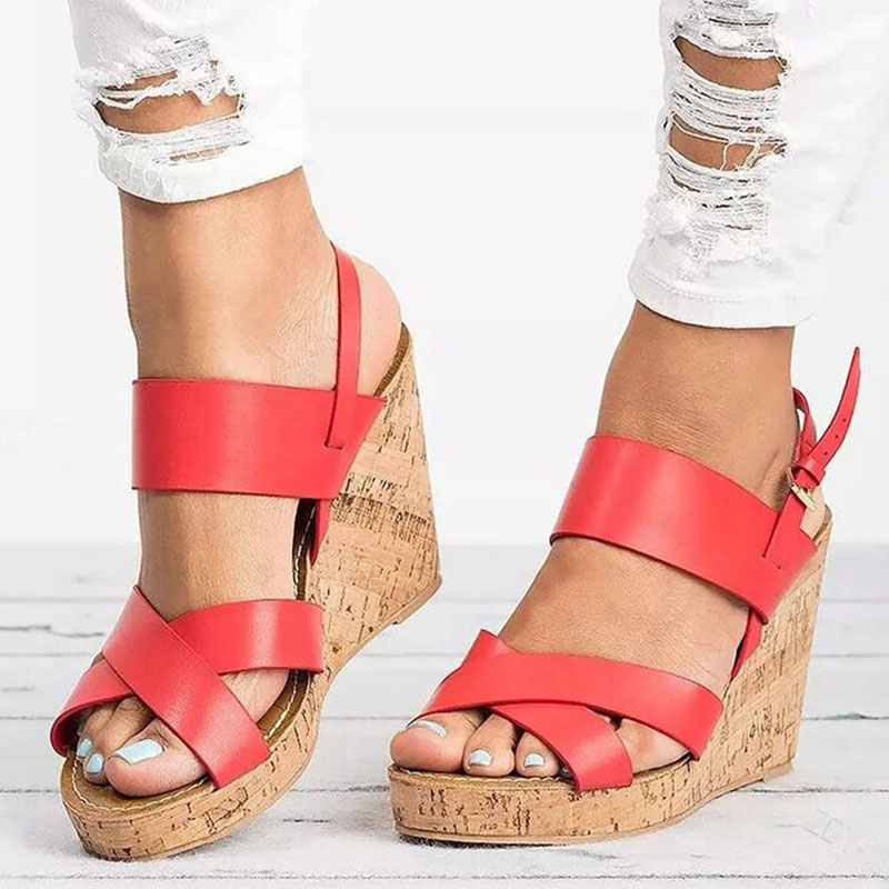 Women Sandals Fashion Female Summer Shoes With Platform Sandals Soft 9cm Wedges Shoes For Women High Heels Sandals Zapatos Mujer poadisfoo 2017 new ethnic women s shoes bohemian diamond slope with a large summer sandals zapatos mujer jxf 6662b