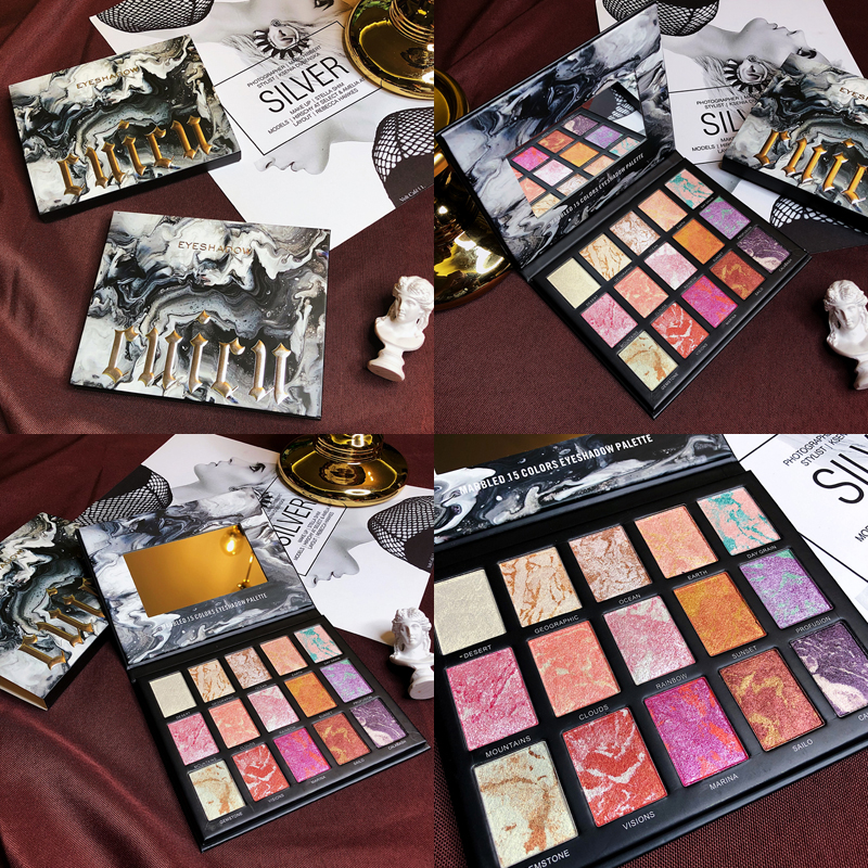 Makeup 15 Color Eyeshadow Palette Lighting Blusher Highlighter Palette Pigmented Shimmer Matte Eyeshadow Pallete Cosmetic in Eye Shadow from Beauty Health