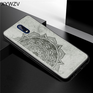 Image 1 - For OPPO R17 Case Shockproof Cover Soft Rubber Silicone Luxury Cloth Texture Phone Case For OPPO R17 Cover For OPPO R17 6.4 inch