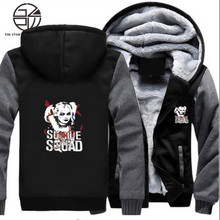 Gzpw cosplay 2018 winter suicide squad clown female Harry Quinn High quality Hoodies thickened plus velvet sweater size M-5XL