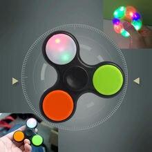 ไฟกระพริบอยู่ไม่สุขมือปั่นTorqbarนิ้วของเล่นEDCโฟกัสGyroเป็นของขวัญเด็กผู้ใหญ่ของเล่น