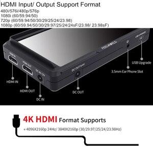 Image 5 - Feel world FW568 5.5 بوصة IPS 4K على كاميرا جهاز المراقبة الميدانية ل DSLR HDMI صغير كامل HD 1920x1080 الفيديو التركيز مساعدة مع الذراع الميل
