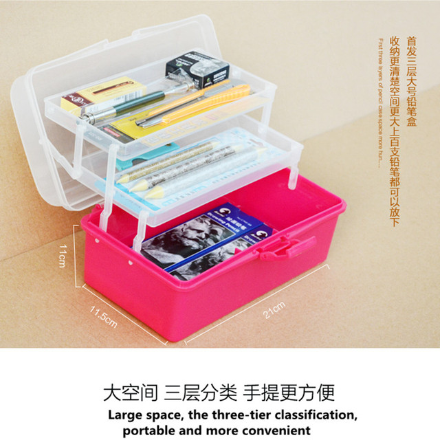 4 Layers Stationery case/ sketching pencil box / art supplies storage box / pencil case  sc 1 st  AliExpress.com & 4 Layers Stationery case/ sketching pencil box / art supplies ... Aboutintivar.Com