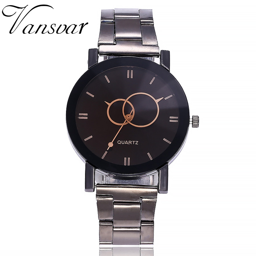 vansvar Casual Quartz Stainless Steel Band Marble Strap Watch Analog Wrist Watch Lover's Watch Erkek Saat Bayan Kol Saati