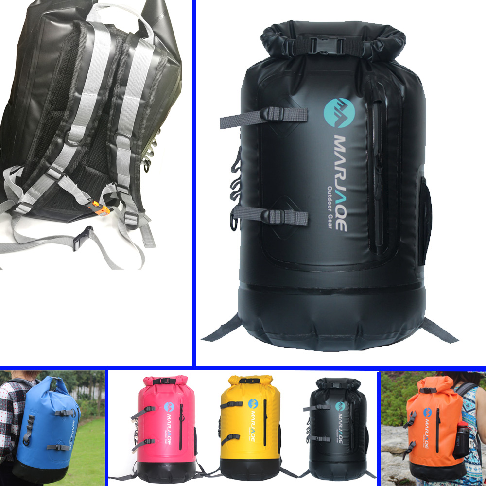 Sac étanche 30L sac à dos résistant à fermeture à rouleau pour kayak pêche randonnée Rafting Camping voile à la dérive
