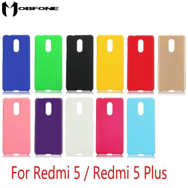 Высокое качество твердой резины Назад кожа матовая чехол для Xiaomi Redmi 5/Redmi 5 плюс/Redmi Note 5 ультра тонкий Пластик телефон В виде ракушки HC01