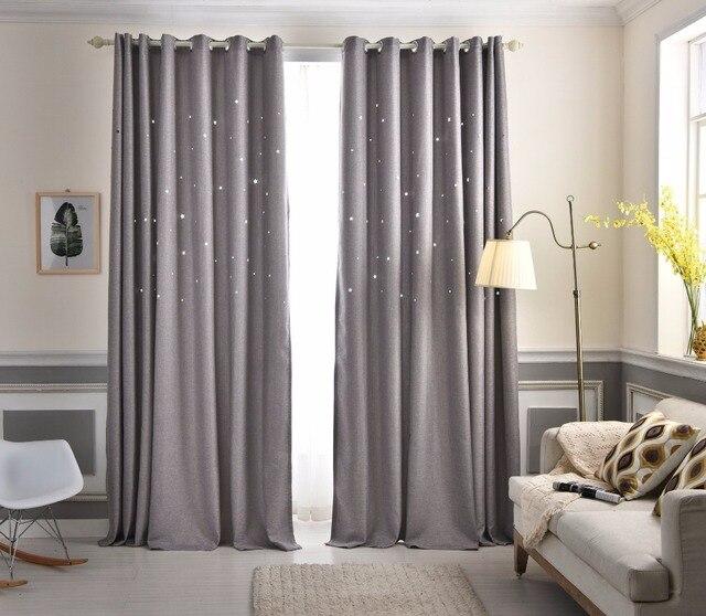 moderno gris estrella de lujo saln dormitorio cortinas telas de las cortinas blackout cortinas de