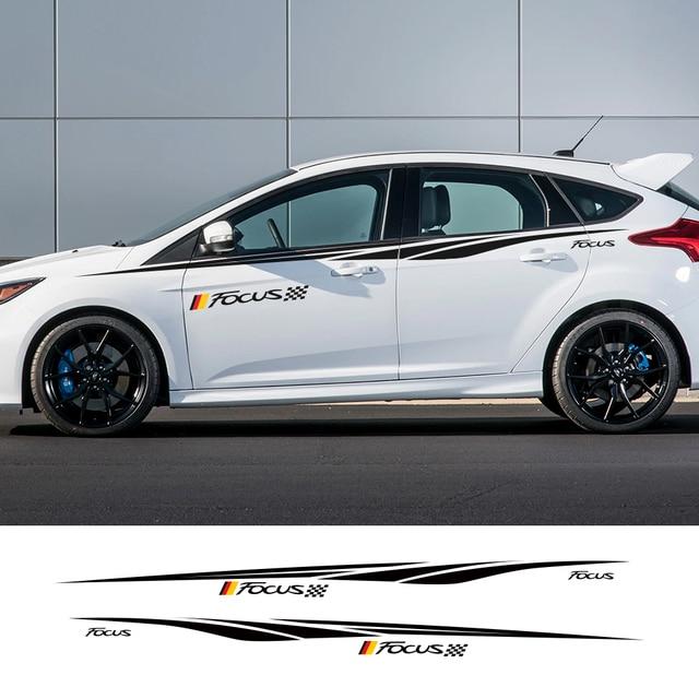 2 Stücke Auto Sowohl Seite Tür Aufkleber Stilvolle Diy Vinyl Racing Styling Für Ford Focus 3 Mk2 Mk3 Tuning Zubehör