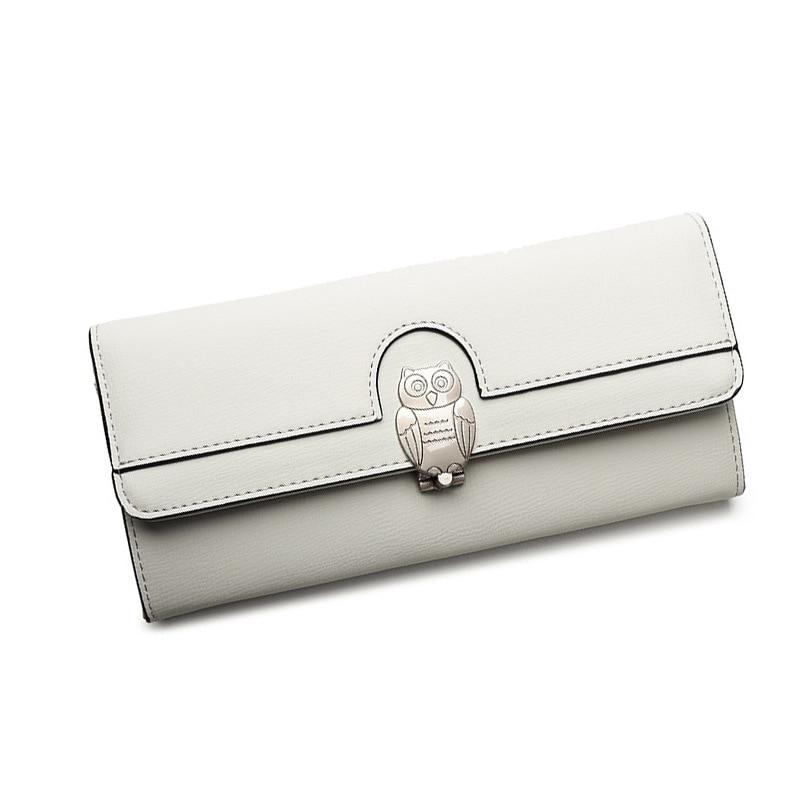 Money Wallet Auspicious Owl Lady Bag Big Card Bit & Big Banknotes Position Metal Buckle Long Money Wallet
