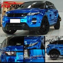 Hohe dehnbar Wasserdicht UV Geschützt dark blue Chrome Spiegel Vinyl Wrap Blatt Rolle Film Auto Aufkleber Aufkleber Blatt
