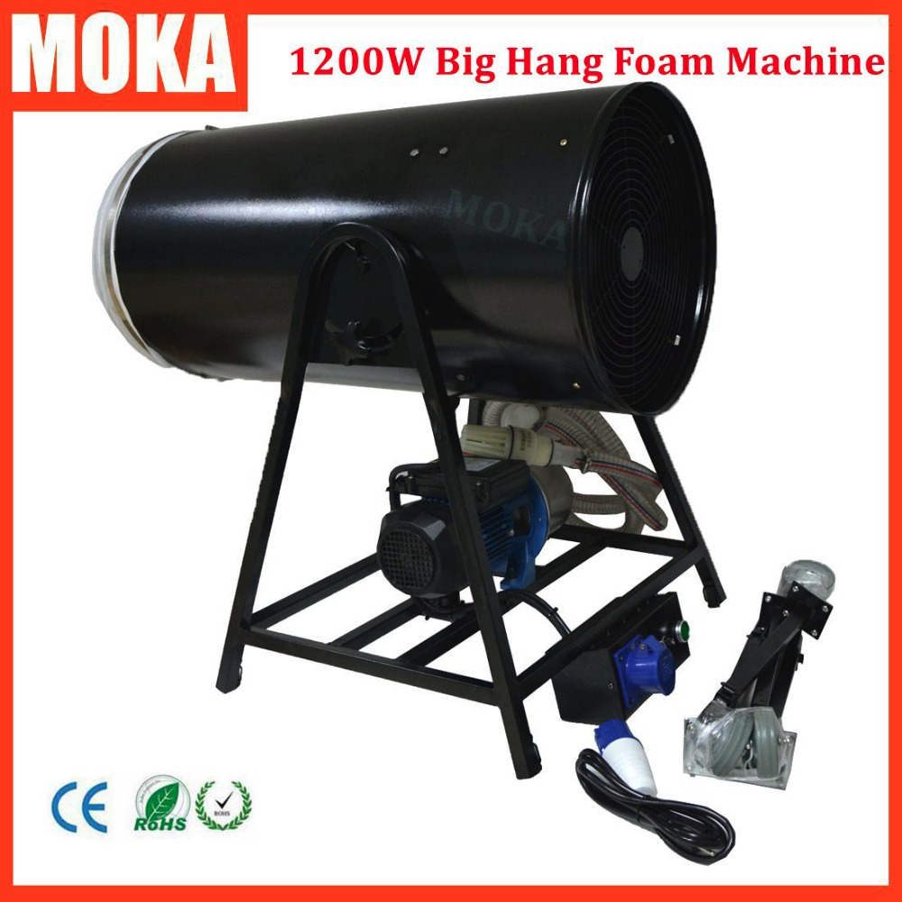 High output foam Machine jet large party bubble machine Speed Road case Pack 1200W High Power electrical manual control