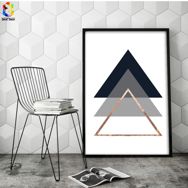 Minimalist Geometric Canvas Posters Prints Wall Art Palm Leaf Painting Picture Living Room Home