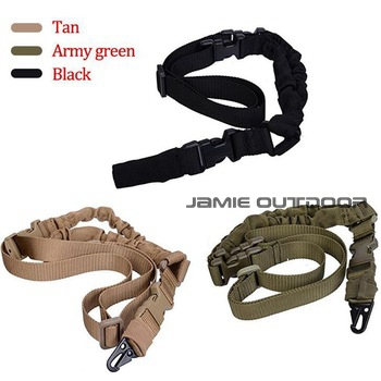 Heavy Duty Tactical Uno 1 Solo Punto Cabestrillo Ajustable Bungee Rifle Sling Co