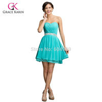 Lovely Beadings Turquoise Mini Cocktail Party Dress Short Sweetheart Prom Dresses Lace Up Back Dancewear Women