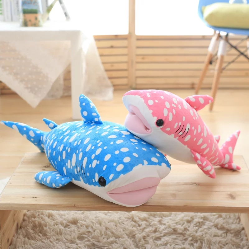 1 PC 50 cm Couleur Requin En Peluche Jouet En Peluche Oreiller Poupée D'anniversaire cadeaux Enfants Jouets des Enfants de Haute Qualité Bébé Jouet pour les Enfants Garçons Filles cadeaux