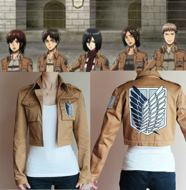 Free Shipping New Attack on Titan Coat Jacket Scouting Legion Clothes Cosplay Costumes