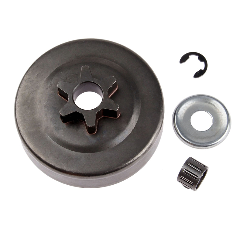 Chainsaw Clutch Drum Sprocket 3/8 6T Washer E-Clip Kit for STIHL MS170 180 Parts 10 x clutch drum rim sprocket p 7 3 8lp picco 7t fit for stihl 021 024 026 ms170 ms180 ms211 ms211c chainsaw 0000 642 1240