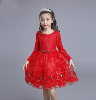 Multicolor 2017 Autumn New Flower Girls Dresses For Wedding Embroidered Formal Girl Birthday Party Dress Princess