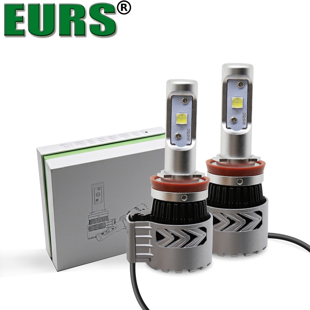 EURS 2pcs Super Bright 12000lm 72W H1 H4 H11 H7 Led Lamp G8 Car Led Headlights Bulb Auto Conversion Kit Motorcycle Fog DRL Light eurs super bright 12000lm xhp50 72w h11 h7 led lamp g8 led fog drl light bulb car auto conversion kit motorcycle headlights 12v