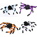 Two Sizes Plush Spider Toys Fun Furry Spider Halloween Decoration Supplies Trick Toys For Party Decorate April Fools Jokes Toys