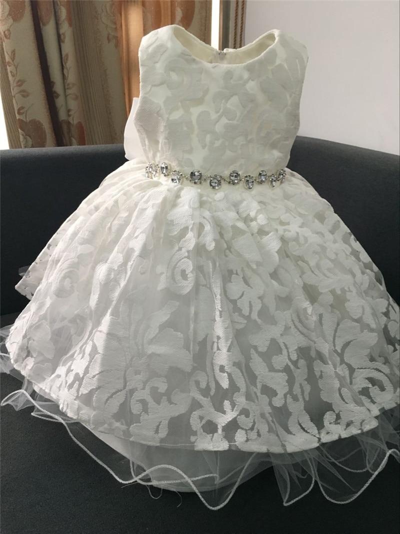 Aliexpress Buy Glitz New Sweet Diamond Flower Girl Dress White