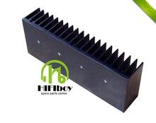 DIY Cooler Aluminum Heatsink Grille Shape Radiator Heat Sink Chip 160*62*32mm for IC Power Transistor