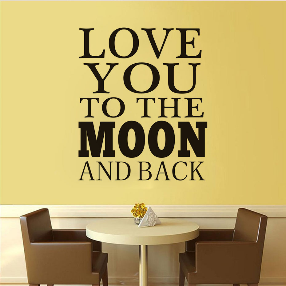 Love You To The Moon And Back Vinyl Mural Art Wall Sticker Decal ...