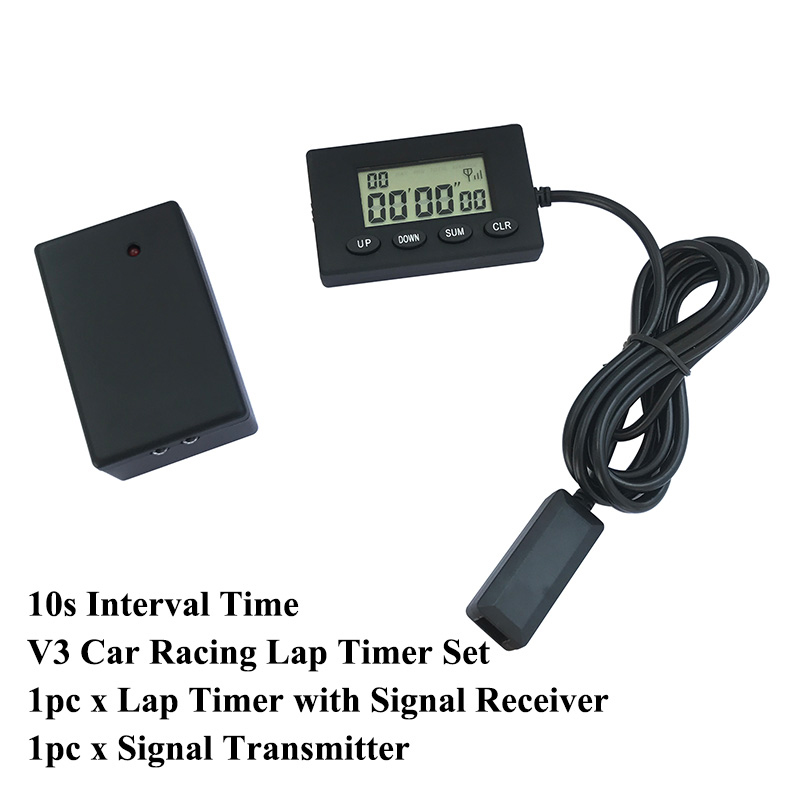 1 set V3 Infrared Ultrared Lap Timer <font><b>Car</b></font> Motorcycle Bike Professional Racing Time Track <font><b>Tool</b></font> Device 10s Interval Time image