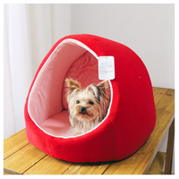 Big Red House Warm Winter Dog Beds Pet Mats Products For Dogs Pet Round Maltese Small