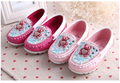 Wholesale-children shoes girl crystal bear princess shoes kids leather shoes 2 colors 5 pairs/l