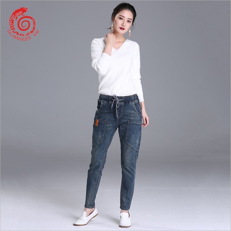 Fashion Denim Classic High Waist   Jeans   Women Vintage Mom Style Pencil   Jeans   High Quality Denim Pants 4 Season Denim Pantalones