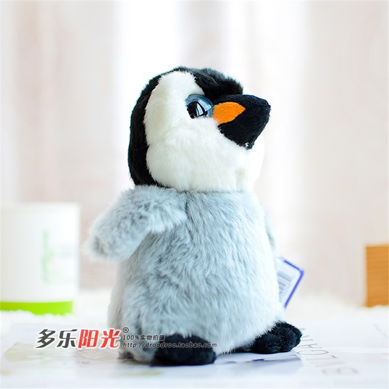 2016 New Kawaii Plush Big Eyes Penguin Baby Doll Palus Artificial Animal Peluche Toy High Simulation Pluche Toys For Collection new big simulation wings pigeons toy polyethylene