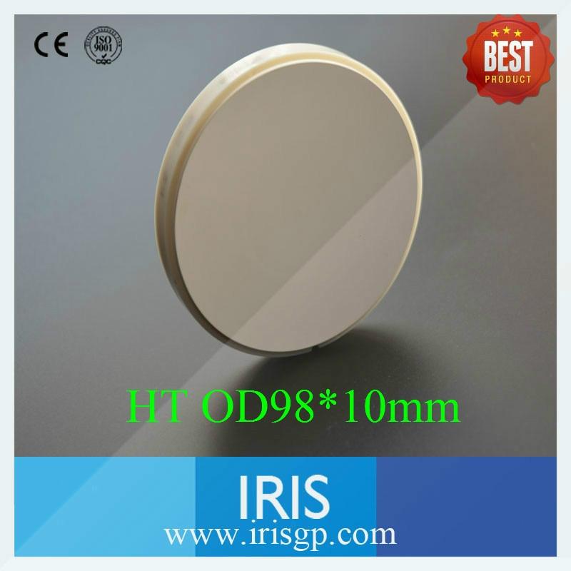 все цены на 5PCS High Translucent OD98*10mm Dental Zirconia Ceramic Blocks with Plastic Ring Outside Making crowns онлайн