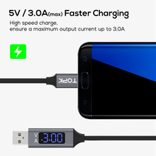 D-Line 2 Micro USB Cable Voltage and Current Display Data Sync USB Cable